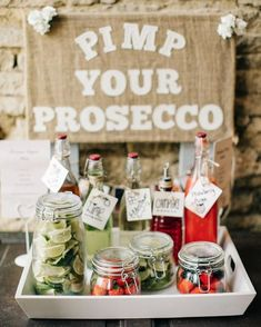 """Pimp your Prosecco  From the gorgeous wedding on my blog right now (click the live link in my profile). Photography by @mandjphotos #pimpyourprosecco"""