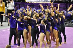 NCAA Regionals: LSU qualifies to NCAA's in First Women's Gymnastics, Gymnastics Posters, Gymnastics Pictures, Artistic Gymnastics, Back Handspring, Dream School, Female Gymnast, Sports Women, Tigers