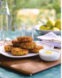 Salmon Cakes with Lemon-Caper Yogurt Sauce from Weeknights with Giada-going to have to try this one