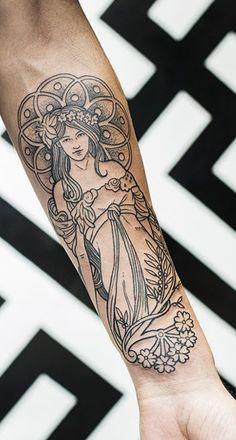 Nouveau tattoo