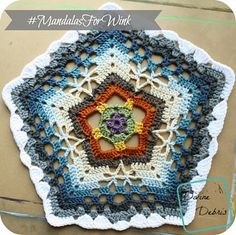 [Free Pattern] Make A Difference In Someone's Life With This Lovely Pentagon Mandala - Knit And Crochet Daily