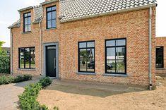 Victoria House, Orange Brick, Forest View, Exterior Design, Tiny House, New Homes, Home And Garden, Windows, Outdoor Decor