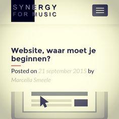 Website, waar moet je beginnen? http://synergyformusic.com/website-waar-moet-je-beginnen/
