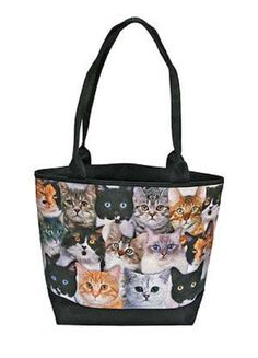 9d2585b9f0 Fanciful Felines Cat Tote Bag Gifts For An Artist