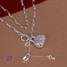 Wholesale-Hot-Styles-925-Silver-Thin-Chains-Beads-Necklace-Mens-Womens-jewelry