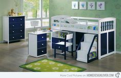 Kid's Bedroom Furniture: Exciting Loft Bed Designs