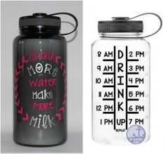 motivational water bottle - water bottle - Drink more water make more milk-breastfeeding water bottle- timeline tracker - new mom gift I'm Pregnant, Drink More Water, Keep Fit, Gifts For New Moms, Timeline, Breastfeeding, Motivational, Water Bottle, Milk
