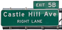 Castle Hill Ave Sign ~ The Bronx