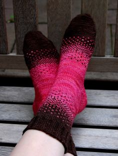 There & Back Again by Dawn Hansen.  Sock yarn. English Rose and Chocolate Amargo colors.