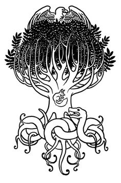 Yggdrasil (Norse tree of life & fate) - a shout out to my Norwegian heritage?