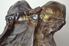 Iridised glass glass sculpture