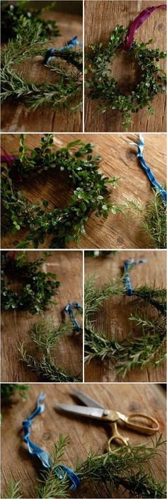 How pretty are these Herbal wreaths!? Add a flower or let the herbs do the talking! #MyHerbalSpring