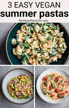 Veg Recipes, Easy Healthy Recipes, Pasta Recipes, Vegetarian Recipes, Vegan Recipes Summer, Recipes Dinner, Brunch Recipes, Recipies, Clean Eating