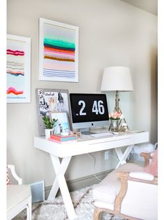 Get Organized With These Home Office Ideas - Dream Home Office Looks to Get You Organized - Small Home Office, Home Office Decor, Desk Decor Home Office Space, Home Office Design, Home Office Decor, Office Furniture, Office Desk, Home Decor, Small Office, Office Style, Men Office