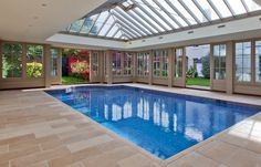 Decor Pools : Timber and Glass Pool House in Essex -Read Swimming Pool Enclosures, Swimming Pool House, Indoor Swimming Pools, Swimming Pool Designs, Lap Pools, Backyard Pools, Pool Decks, Pool Landscaping, Garden Pool