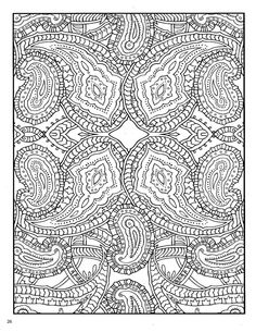 Dover Paisley Abstract Doodle Zentangle Coloring pages colouring adult detailed advanced printable Kleuren voor volwassenen coloriage pour adulte anti-stress