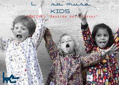 """Concours """" RENTREE DES CLASSES """" L ... sa muse KIDS fait gagner à votre enfant son tablier d'écolier pour la maternelle !!! ♥️♥️♥️ Pour participer et gagner le tablier de votre choix d'une valeur de 35 € il faut partager cette publication, mettre en commentaire FILLE ou GARCON , liker la page Facebook L. sa muse kids et inviter un(e) ami(e) avant le 31/08 à minuit."""