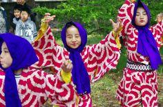 03 Akita Hachirogata town Child Gannin Dance 2015 2015年5月5日 八郎潟町 一日市神社 子供願人踊り