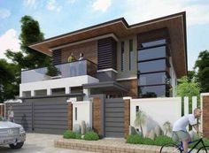 Modern japanese inspired house design pin by on house in modern minimalist house modern house and . Modern Zen House, Japanese Modern House, Modern Minimalist House, Modern House Design, Modern Fence, Modern Stairs, Philippines House Design, Philippine Houses, Asian House