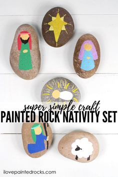 Christmas Rock, Toddler Christmas, Christmas Nativity, Christmas Activities For Toddlers, Christmas Crafts For Kids, Holiday Crafts, The Nativity Story, Nativity Crafts, Nativity Sets