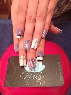 Nails art, acrylic nails.