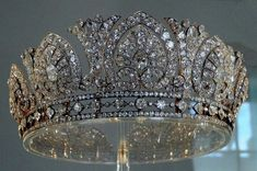 Devonshire Honeysuckle tiara, also known as the Derby Tiara, presumably given to Louise, 8th Duchess of Devonshire at the time of her marriage in 1892
