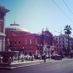 Corso Cavour e Teatro Petruzzelli, Bari, Apulia, Italy