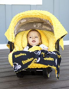 Look what I found on Pittsburgh Steelers Car Seat Caboodle Set by Baby Fanatic Pitsburgh Steelers, Steelers Stuff, Baby Doll Nursery, Baby Room, Car Seat Blanket, Football Baby, Football Gear, Baby Cover, Traveling With Baby