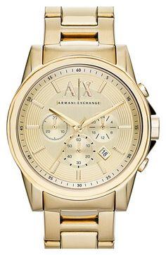 7aee0c609a5 Men s AX Armani Exchange Chronograph Bracelet Watch
