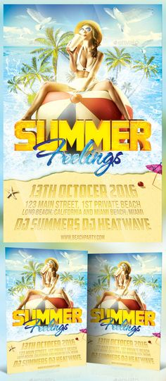 Endless Summer Flyer Flyer template, Party flyer and Summer - summer flyer template