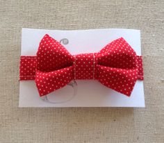 Handmade Velcro Boys Bow Tie in Red and White by GraceCoHandmade, $15.00