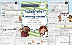 Lesson Plan Bundle:  Two Days of Lesson Plans 4.NBT.2: Number Forms and Comparing Numbers