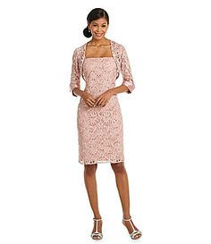 JS Collections SequinLace Jacket Dress #Dillards
