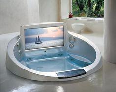 Hmm TV in the Tub? - HotTubs-Colorado.com