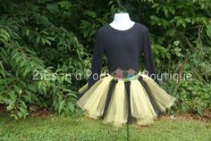 Black and Yellow Striped Tutu by 2EsInAPodBoutique on Etsy, $15.00 bumble bee bumblebee costume Halloween toddler tutu dance recital party photo prop Pittsburgh Steelers Cheerleader team spirit girl's football NFL