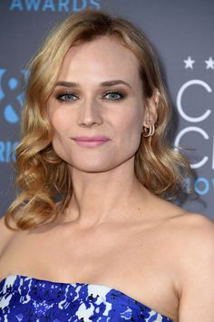Diane Kruger at the 2015 Critics' Choice Awards. Love the strong eye and subtle lips look