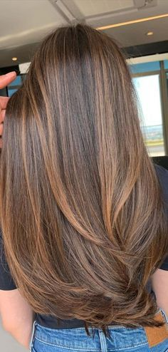 Straight Brunette Hair, Brunette Hair Color With Highlights, Balayage Straight Hair, Brown Straight Hair, Highlights For Dark Brown Hair, Brown Hair Balayage, Brown Blonde Hair, Light Brown Hair, Light Hair