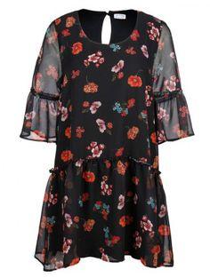 Kleid mit Blumenprint von Angel of Style, gesehen auf happy-size.de