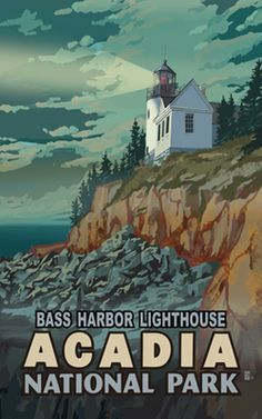 MR-1780 Bass Harbor Lighthouse Acadia National Park - by Mike Rangner