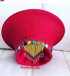Medium or large Zulu beaded isicholo with beaded veil Zulu Traditional Attire, African Traditional Wear, African Traditional Wedding Dress, Traditional Ideas, Traditional Weddings, African Wedding Attire, African Attire, African Weddings, Zulu Wedding