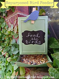 My Thrift Store Addiction : Earth Day Inspired Bird Feeder from Vintage Match Holder
