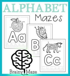 These printable Alphabet Mazes combine hands-on learning with fun through mazes, playdough and handwriting practice. :: www.thriftyhomeschoolers.com