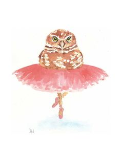 owl ballerina by Deidre Wicks