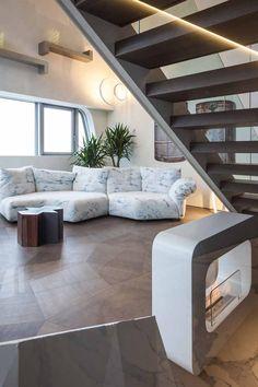 Penthouse One-11   City Life - Milano   Zaha Hadid Zaha Hadid, City Life, Stairs, Home Decor, Stairway, Decoration Home, Room Decor, Staircases, Home Interior Design