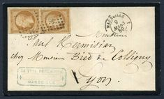 299931 - Lot 272 - France - Covers - France 1859 cover, SUPERB neat Mourning cover 9/3/1859 with 10c Bistre… / MAD on Collections - Browse and find over 10,000 categories of collectables from around the world - antiques, stamps, coins, memorabilia, art, bottles, jewellery, furniture, medals, toys and more at madoncollections.com. Free to view - Free to Register - Visit today. #Stamps #PostalHistory #MADonCollections #MADonC