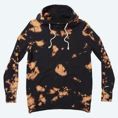 Burnt pullover hoody
