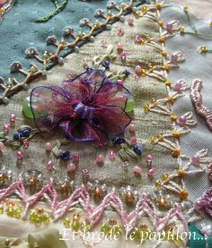 I ❤ crazy quilting, beading & embroidery . . . Ati's block details