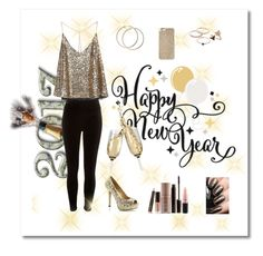 """""""🎉Happy New Year!🎉"""" by alexbeamguard ❤ liked on Polyvore featuring Michael Kors, River Island, Bee Goddess, LC Lauren Conrad, MAC Cosmetics and Laura Mercier"""
