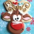 Reindeer Cookies with Gingerbread Man Cutter Christmas Cookies Rudolph the red nosed reindeer! Seriously the cutest cookies ever! Christmas Sugar Cookies, Christmas Sweets, Christmas Cooking, Noel Christmas, Christmas Goodies, Holiday Cookies, Reindeer Christmas, Christmas Gingerbread, Reindeer Gingerbread Cookies