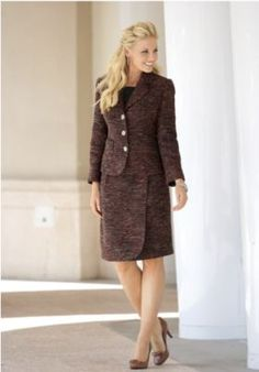 Copper Boucle Suit-- love the colors for fall